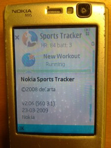 N95, Sports Tracker and Polar Heart Rate Monitor